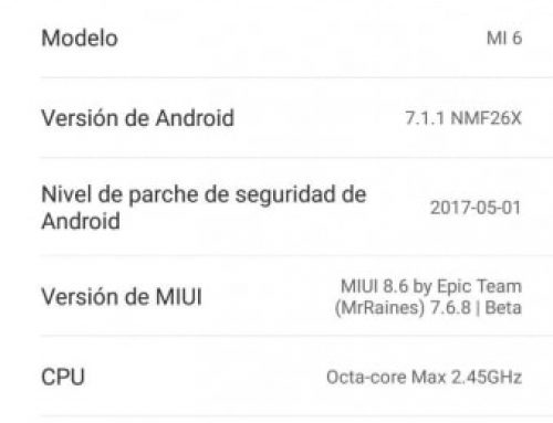 MIUI 9 Epic ROM 7.8.31 Multilanguage Xiaomi Mi 6