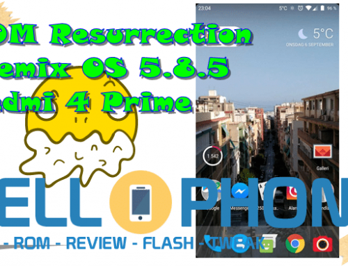 ROM Resurrection Remix OS 5.8.5 Redmi 4 Prime