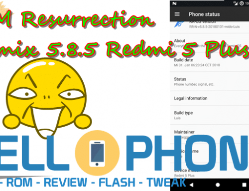 ROM Resurrection Remix 5.8.5 Redmi 5 Plus