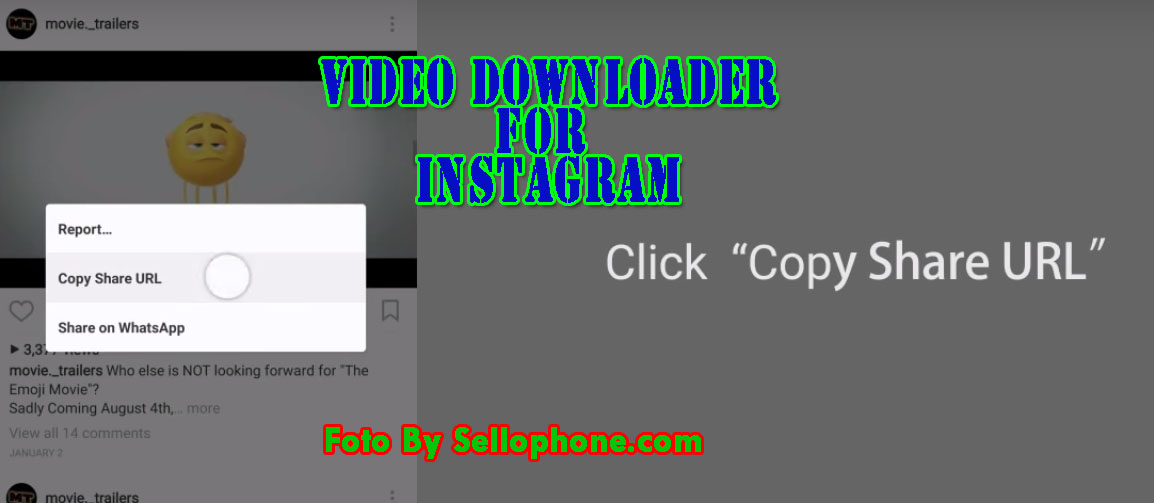 Aplikasi Untuk Download video di Instagram